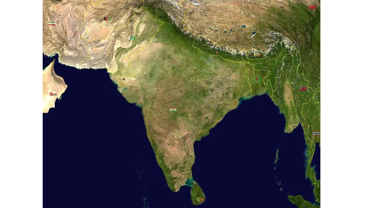 ভারতীয় উপমহাদেশের অবস্থান